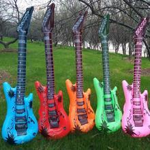 95 см надувная гитара игрушка ПВХ реквизит для сцены Детские симуляторы надувные инструменты многоцветные вечерние аксессуары для больших шоу