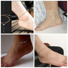 Anklets for Women Foot Accessories Summer Beach Barefoot Sandals Bracelet ankle on the leg Female Ankle summer beach turtle shaped charm rope string anklets for women ankle bracelet woman sandals on the leg chain foot jewelry