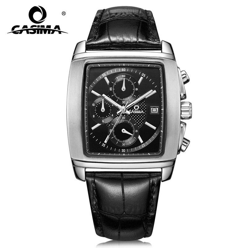 Часы люксовый бренд Мужчины 2017 Мода Досуг Деловое платье Мужские кварцевые наручные часы водонепроницаемый Relogio masculino CASIMA #5115