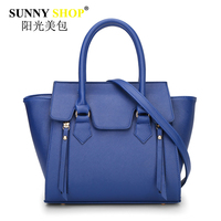 SUNNY SHOP Fashion Trapeze Women Messenger Bag Shoulder Bags High Quality Pu Leather Handbags Solid Zipper