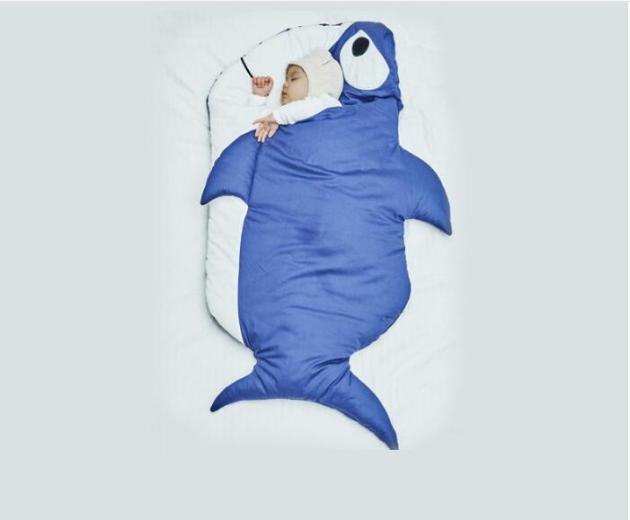115cm Baby Blanket Shark Newborn Baby Sleeping Bag Stroller blankets Winter Cotton Thick Warm Blankets for Baby Swaddle Wrap cotton lamb fleece blanket 115 115cm 100% cashmere double face blankets nordic style