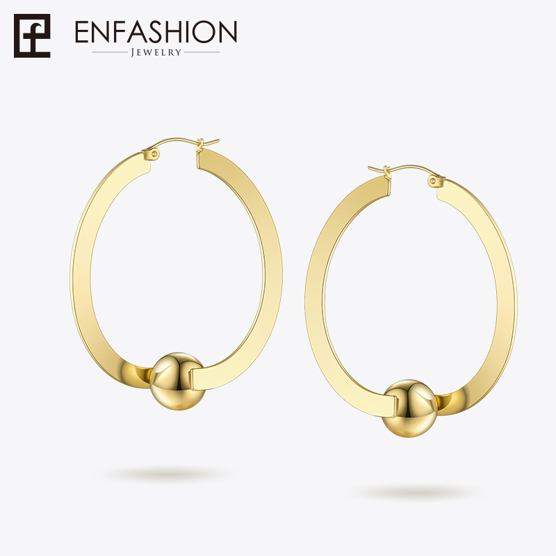 Enfashion Ball Hoop Earring Big Round Circle Earrings Hoops For Women Earings Fashion Jewelry 2018 Boucle d'oreille EB181048