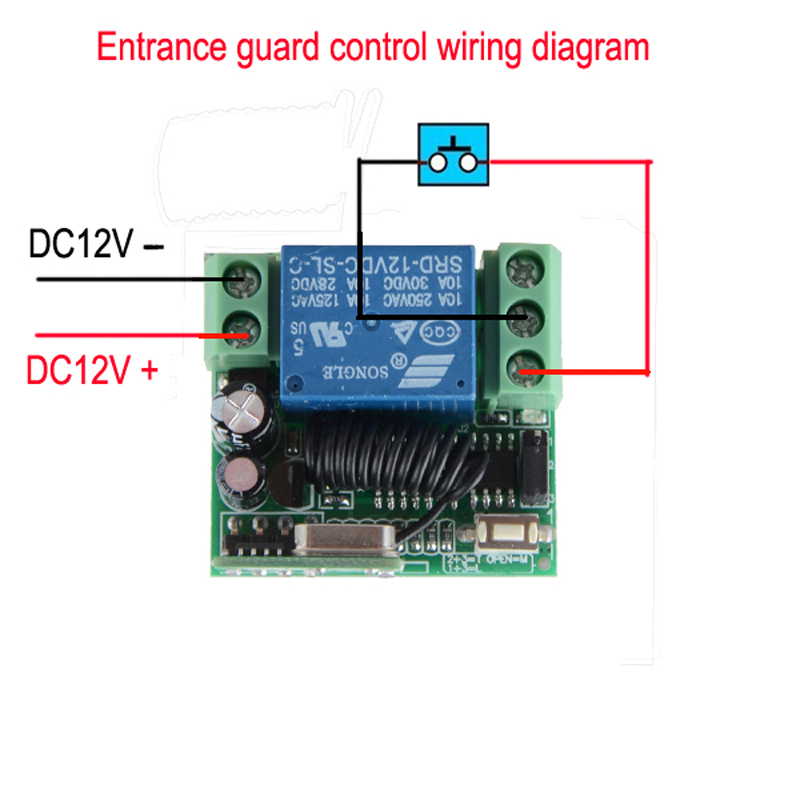 Dc 12v 10a 1ch Wireless Rf Remote Control Switch Transmitter Receiver For Accessdoor Systemin Switches From Lights Lighting On Aliexpress: Remote Control 12v Dc Switch Wiring Diagram At Eklablog.co