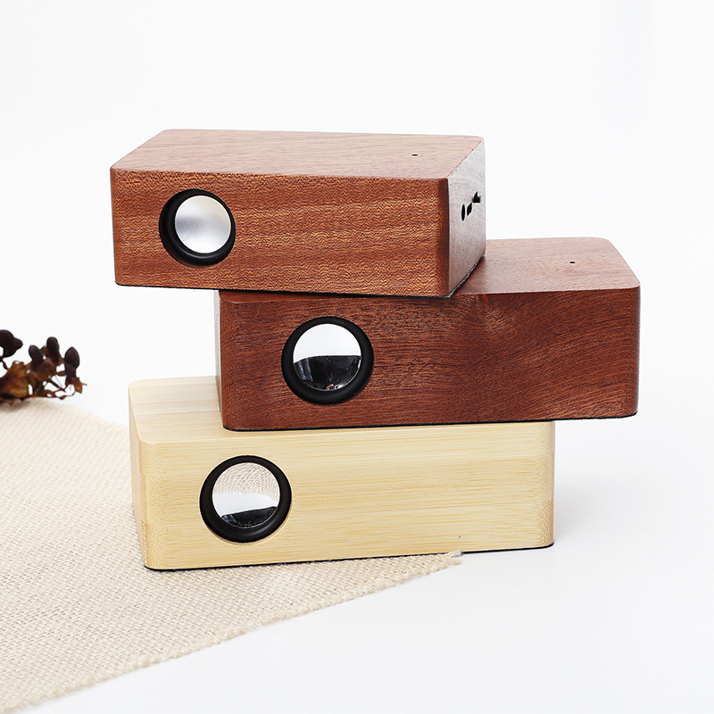 madetec portable wooden speaker nfc sound amplifier wooden