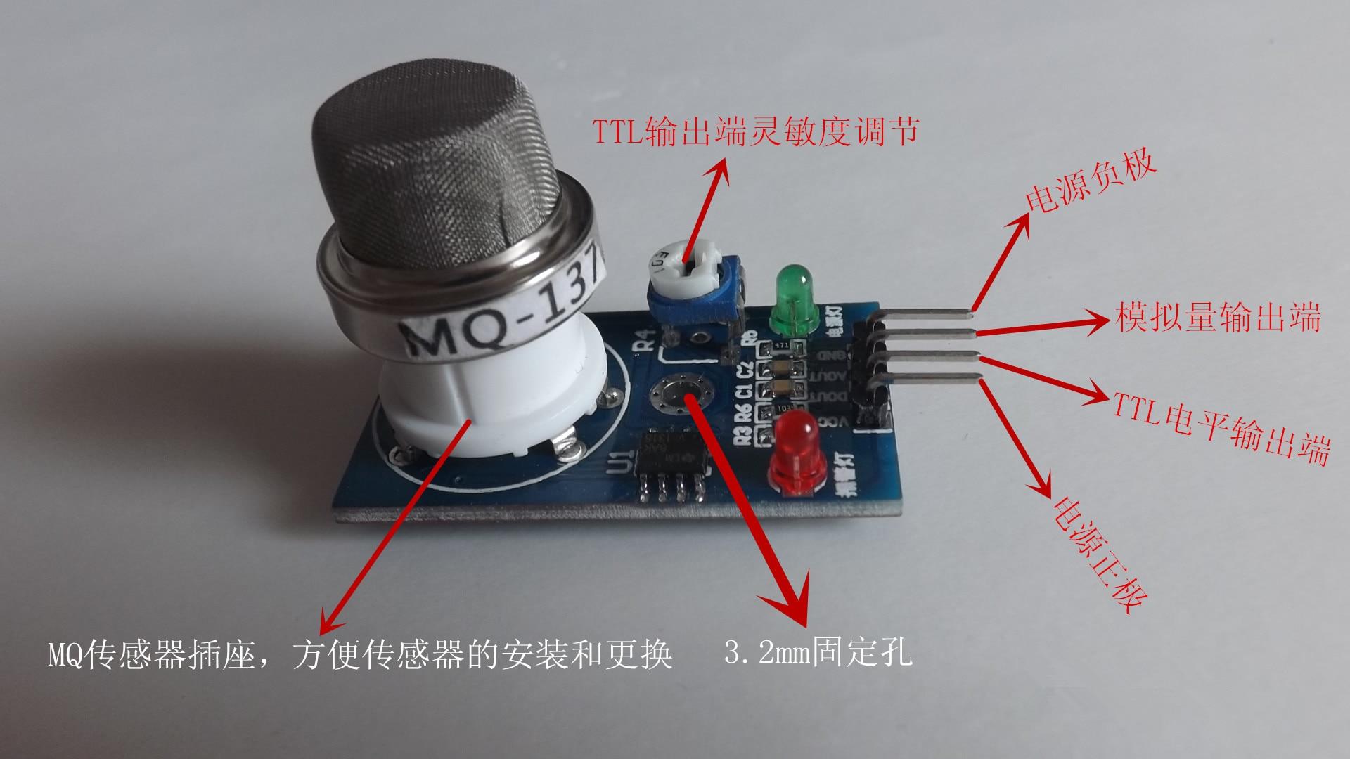Module de capteur MQ137 Module de capteur d'ammoniac Module de détection NH3