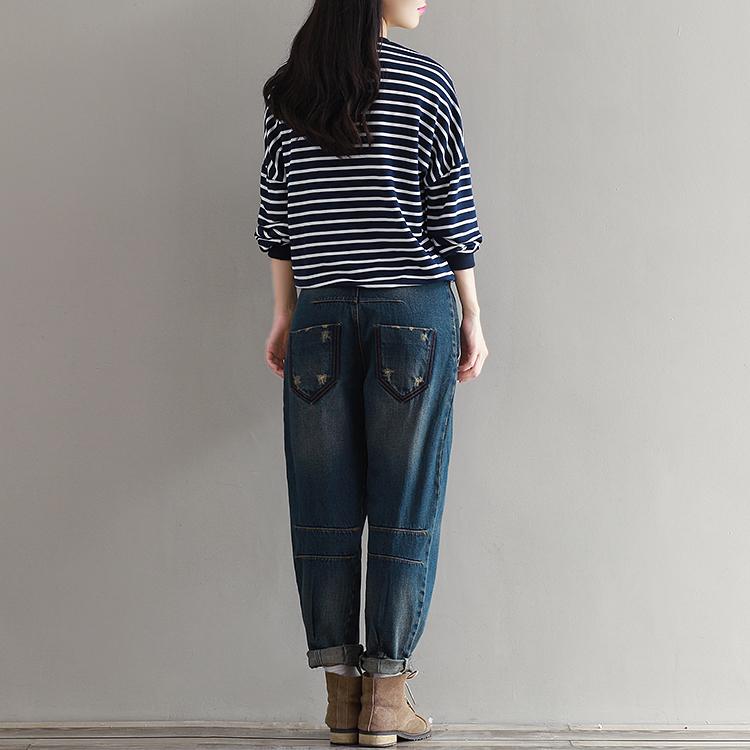 17 Winter Big Size Jeans Women Harem Pants Casual Trousers Denim Pants Fashion Loose Vaqueros Vintage Harem Boyfriend Jeans 15