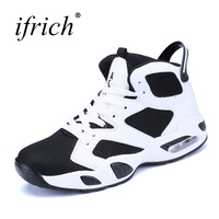 Ifrich Men Sneakers For Basketball Black White Boys Basketball Shoes Kids High Quality Mens Sport Basketball