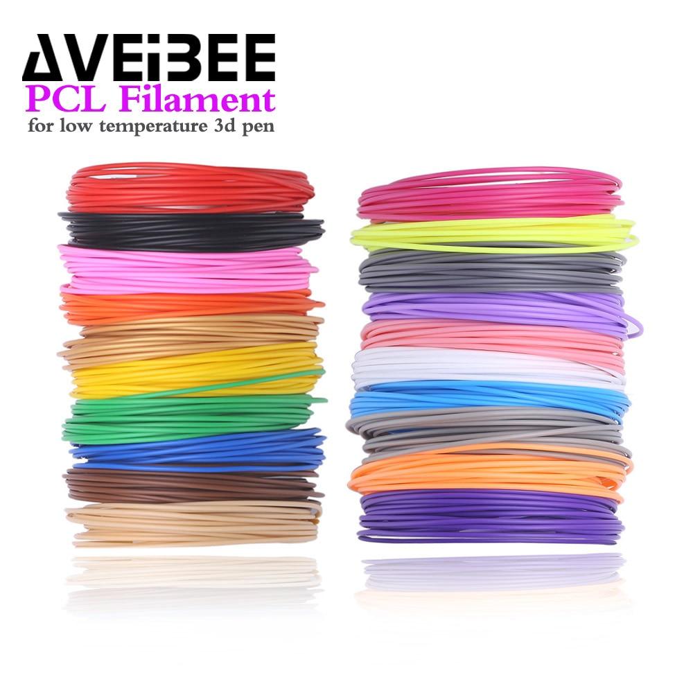 100 Meter 20 Farbe Pcl Filament 50 Mt 10 Farbe Materialien Für Niedrigen Temperatur 3d Stift Themen Kunststoff Verbrauchs Für Kinder Geschenke KöStlich Im Geschmack