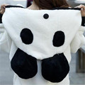 2016 Autumn/Winter Women Panda Sweatshirts With Hooded Female Fashion Bat Sleeved Soft Plush Overcoat Casual Hoodies SL0731