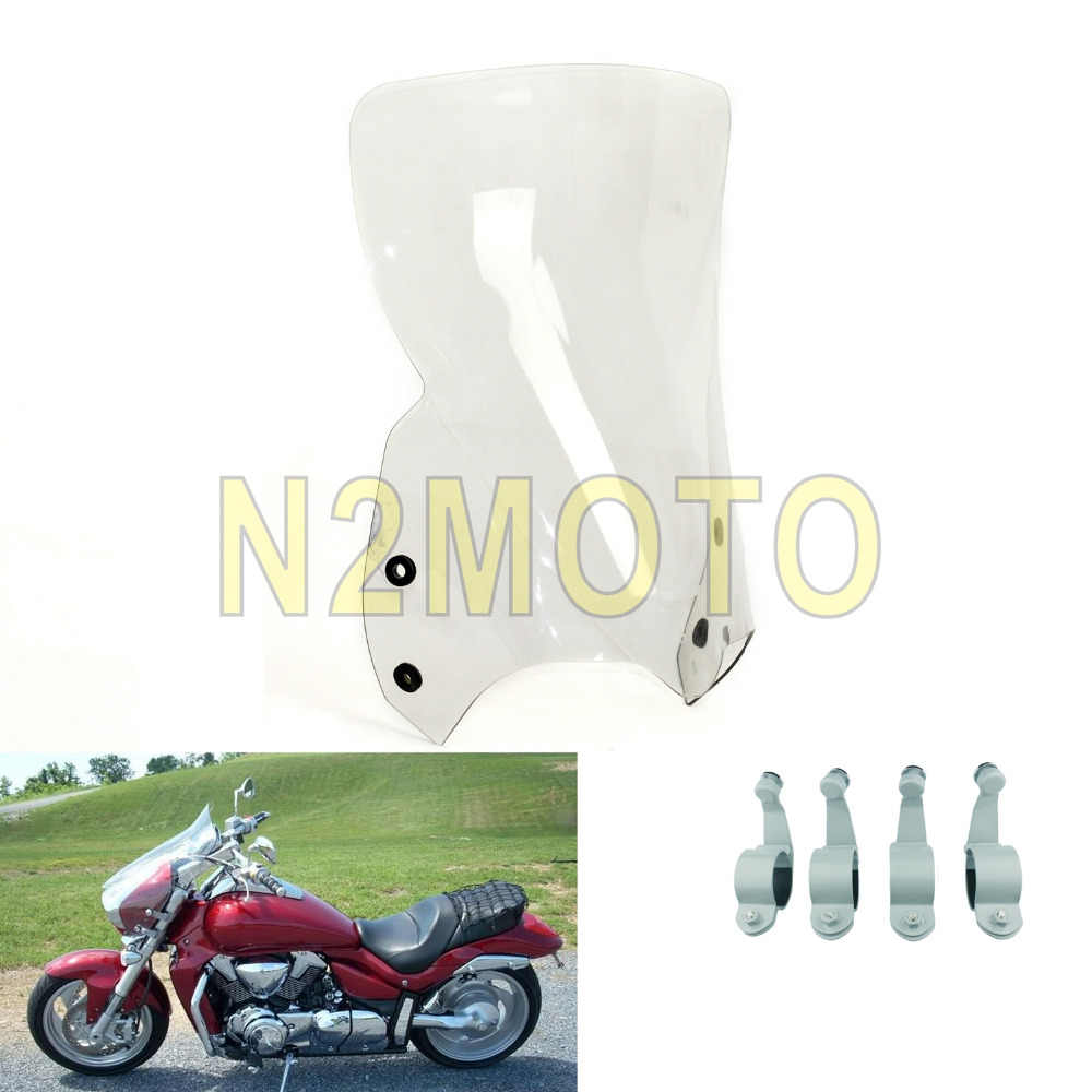 3 Colors Motorcycle Windshield for Suzuki Boulevard M109R M50 M90 2006-2016  Polycarbonate Clear/Smoke/Black Windscreen