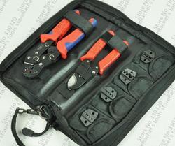 Juego de Herramientas de engaste/kit SN-02C con cortador de cable, alicates de engaste y juego de troqueles/mandíbulas de engaste reemplazables, herramientas de terminal, crimpadores