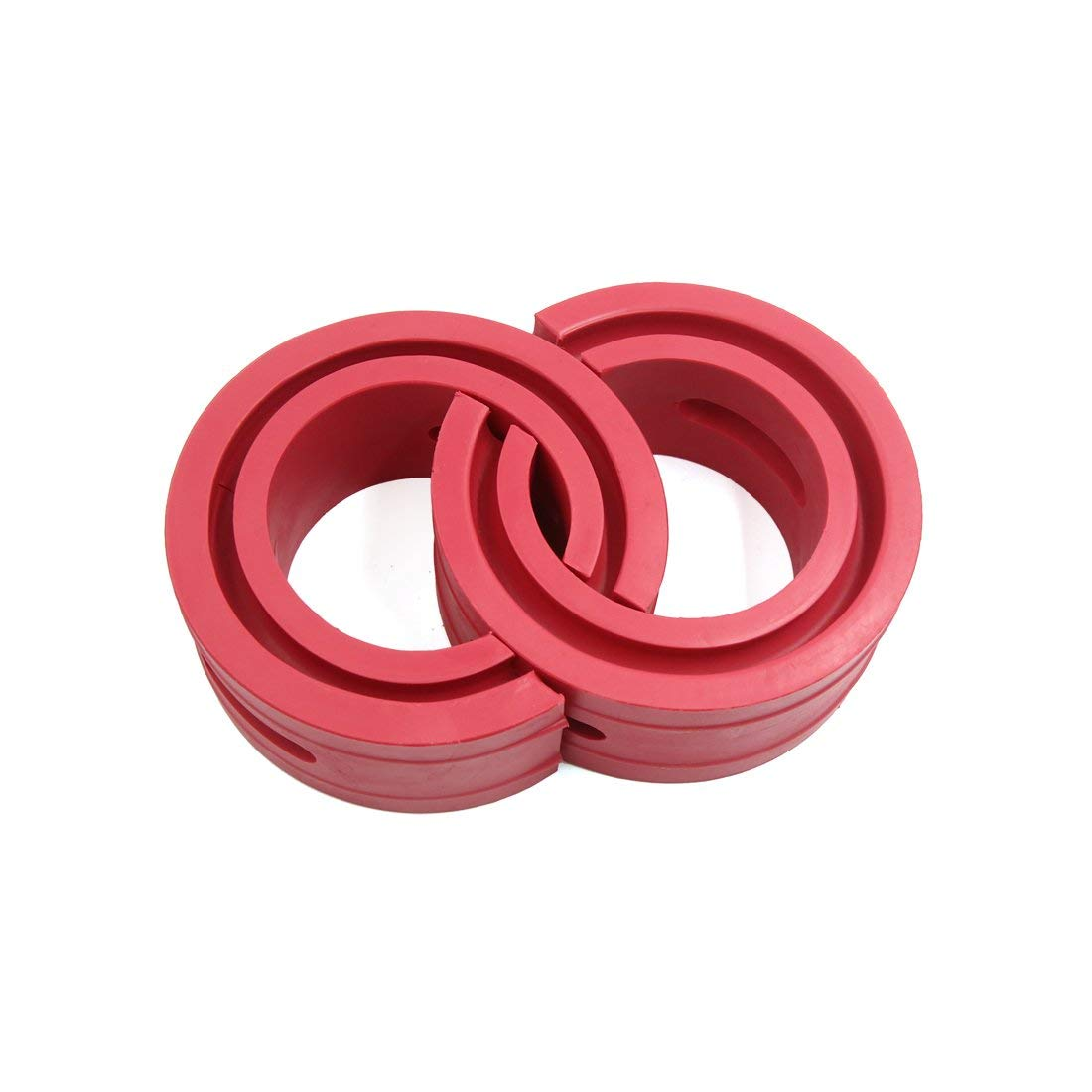 uxcell Type C Red Car Rubber Shock Absorber Spring Bumper Buffer Power Cushion 2pcs