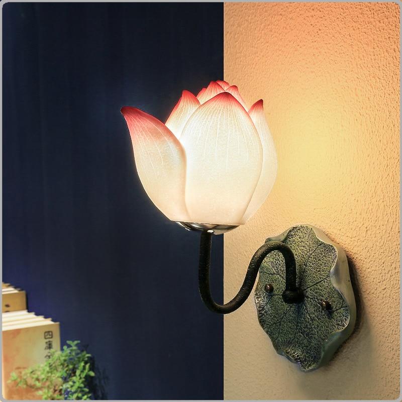 Wandleuchten Licht & Beleuchtung Logisch Moderne Persönlichkeit Wandleuchte Klassische Wohnzimmer Kunst Nacht Dekorative Lampe Chinesischen Eingang Garten Kunst Lotus Lu814271