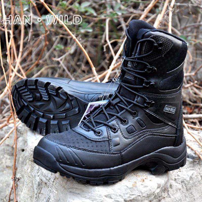 Outdoor Sport Army Men's Tactical Boots Military Combat Desert Boots High Top Hiking Climbing Trekking Sports Shoes