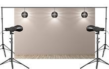 Exquisite Flashlight Illuminated under Gray Background Wooden Scene Attractive Backdrop Photo Studio Props 150x220cm