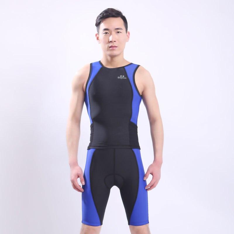 5ffe9b8eb122 ᓂМужская анти-уф защиты цельный купальники морские костюм Swiming ...
