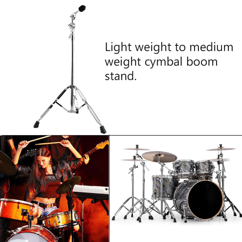Double Braced Legs Lightweight Drum Cymbal Boom Stand Anti-Slip Design Rubber Legs Griffin Drum Hardware Arm Mount Set tama hc83bw roadpro boom cymbal stand