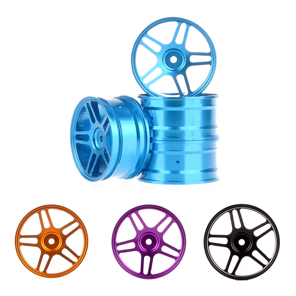 4PCS 52*26mm Aluminum Wheel Hub Rims for 1:10 RC On Road Drift Car HSP 94122 94123 Tamiya HPI Kyosho 1/10 Upgrade Parts 1 pair 02168 hsp rc 1 10 model 4wd on road car off road truck wheel axle 94122 94166