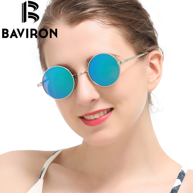 b92b5e54ea1 BAVIRON Hippie Steampunk Sunglasses Male Polaroid Lenses Glasses Retro  Classic Men Thin Alloy Metal Flat Retro Sunglasses