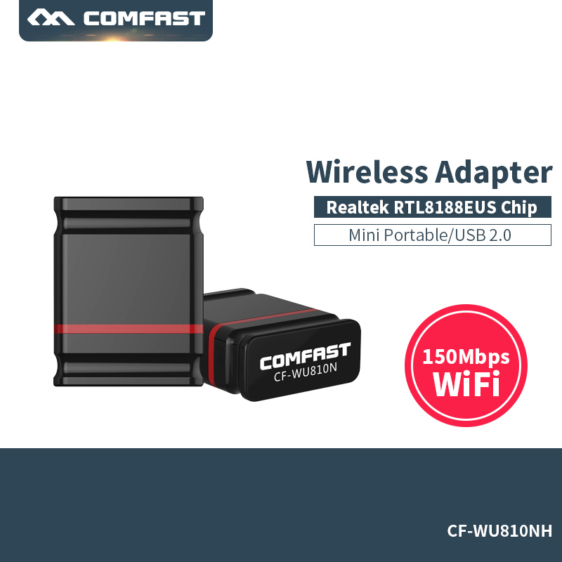 Image 1 - Wi fi адаптер 150 Мбит/с USB WiFi беспроводной адаптер Wi fi адаптер Антенна Сеть карта Ethernet приемник Wi fi COMFAST-in Сетевые карты from Компьютер и офис on AliExpress - 11.11_Double 11_Singles' Day