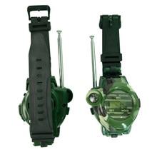 2pcs Walkie Talkie 7 In 1 Watch Compass Wireless For Children Kids Outdoor Interactive Toy M09