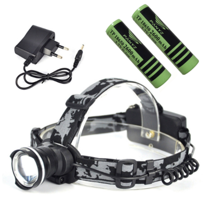 2000 Lumens XM-L T6 LED Phare 18650 Type Phare AC100-240v lampe-Torche Chef Lampe + Chargeur + Chargeur De Voiture