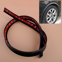 CITALL Universal Black Auto Car Fender Flare Wheel Eyebrow Protector Wheel Arch Lips Cover Trim Strip