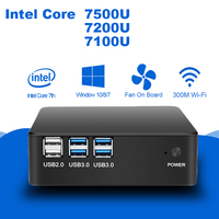 Windows 10 Mini PC Computer Intel Core I7 7500U I5 7200U I3 7100U 4K Support HDMI