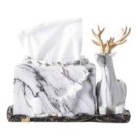 European style Creativity Tissue box Living room Nordic elk draw carton Household multifunctional paper box Napkin carton