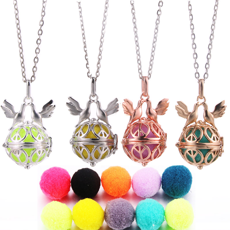 1pcs Beauty Angel Ball Locket Pendant Aromatherapy Oil Diffuser DIY Necklace