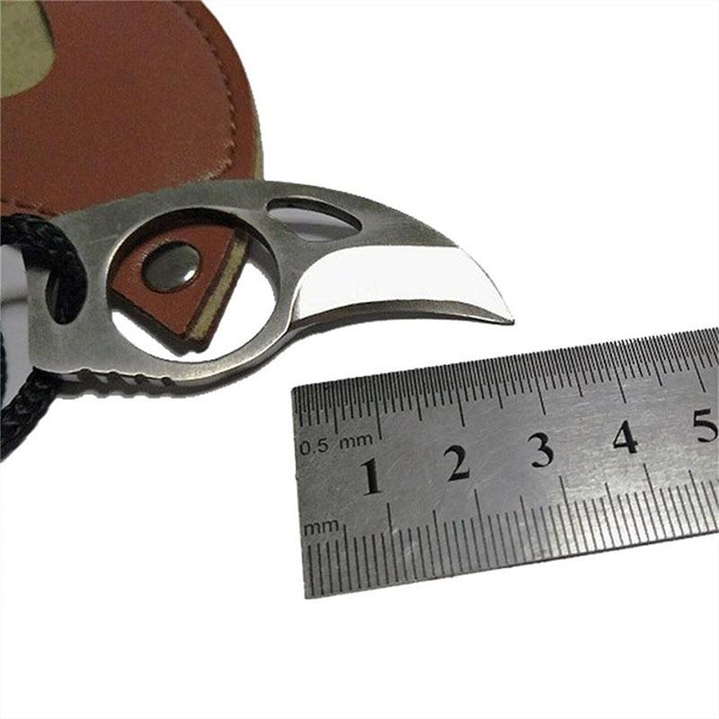 Мини преносим нож за оцеляване Нокът - Сигурност и защита - Снимка 6