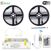 RGBW LED Strip 10M Waterproof RGBWW WIFI Diode Tape 5050 RGB Warm White Fita Mini WIFI