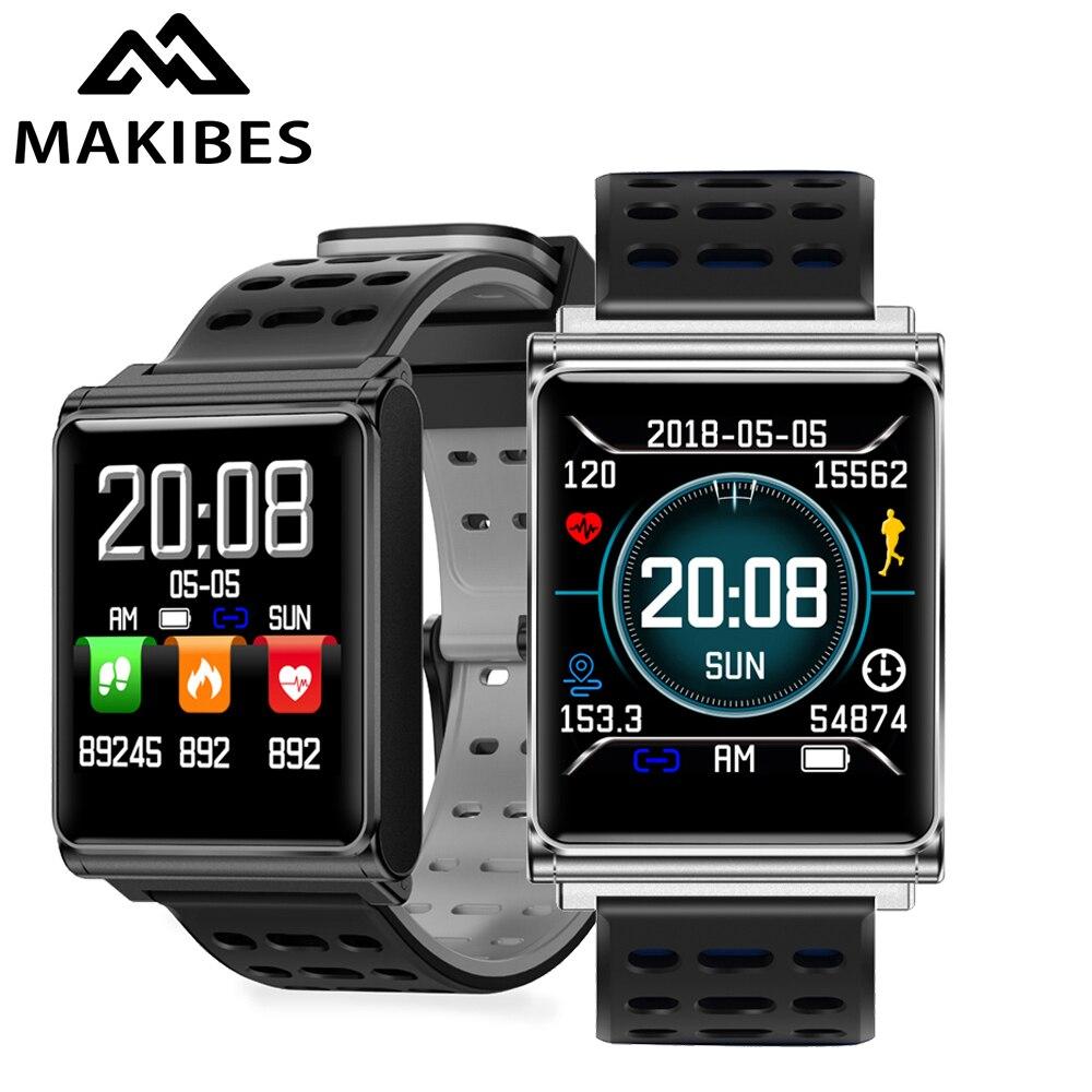 Makibes CK02 Смарт-часы Для мужчин крови Давление монитор сердечного ритма Фитнес трекер часы Smartwatch для IOS Android Носимых устройств