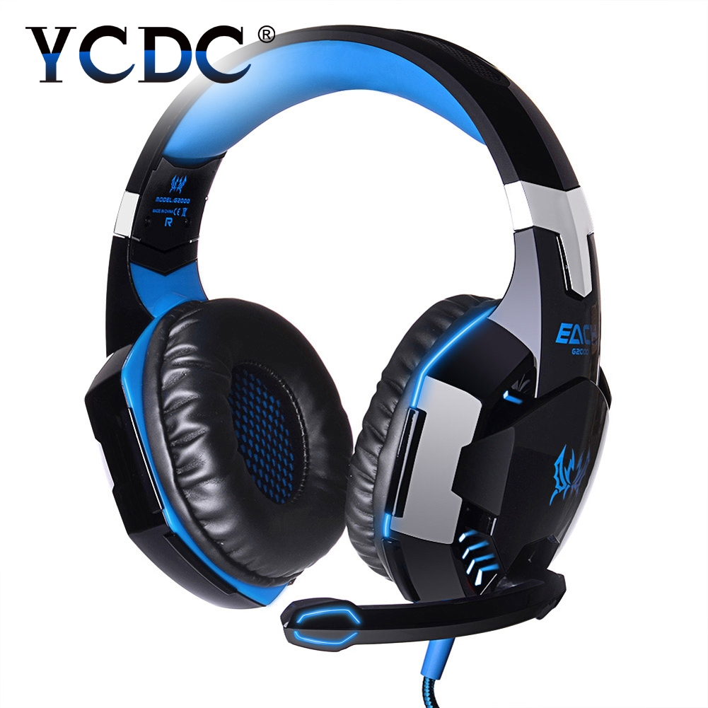 KOTION EACH G2000 3.5mm Gaming Headphone Headset+Mic+LED Line Controller Blue / Orange / Black / Red / white