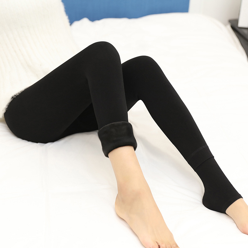 Shuchan Trousers For Women 350g Warm Pants For Women 39 s Winter Thick High Waist Women 39 s Clothing Pants For Women Black Gray Jm88 in Pants amp Capris from Women 39 s Clothing