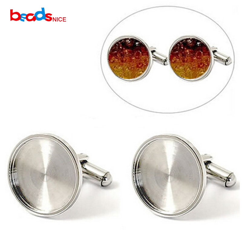 Stainless Steel Blank <font><b>Setting</b></font> <font><b>Base</b></font> Cufflinks <font><b>Settings</b></font> Cabochon <font><b>Base</b></font> for 16/18/20mm Men Cufflinks DIY <font><b>Jewelry</b></font> findings ID25006 image