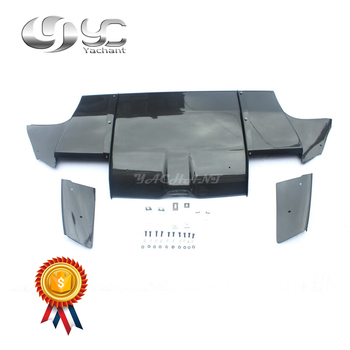Carbon Fiber VS Stijl Diffuser w/Side Addon en Metalen Fitting Kit Fit Voor 2008-2010 Subaru impreza STI GRB