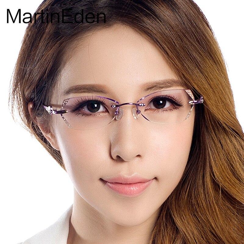 online aquí envío directo 2019 profesional Martineden personalizar marco anteojos sin montura de ...