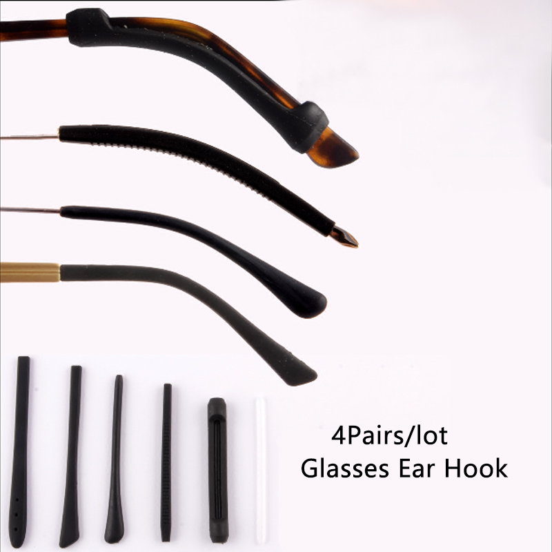 4Pairs/lot Anti Slip Silicone Glasses Ear Hooks For Kids And Adults Round Grips Eyeglasses Sports Temple Tips Soft Ear Hook
