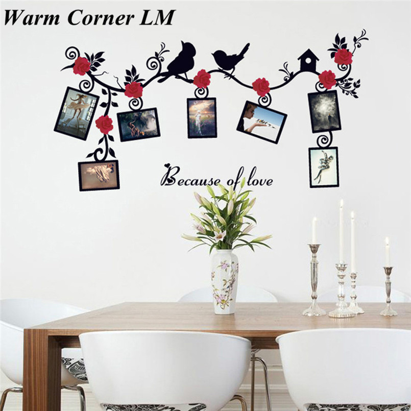 1 set diy removable removable photo bird pvc wall for Diy photographic mural
