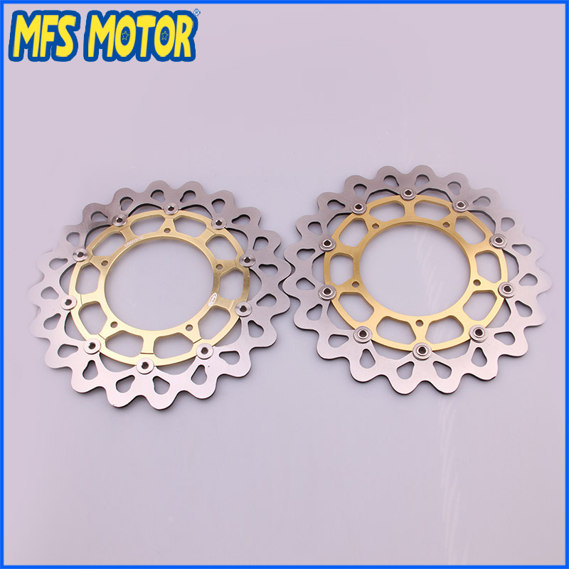 Motorcycle Front Brake Disc Rotor For Yamaha YZF R1 2004 2005 2006 YZFR1 04 05 06 Gold Color 6 colors cnc adjustable motorcycle brake clutch levers for yamaha yzf r6 yzfr6 1999 2004 2005 2016 2017 logo yzf r6 lever