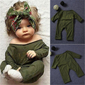 Newborn Kids Baby Girls Infant Casual Jumpsuit Outfits 0-24M