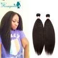 Malaysian Virgin Hair Straight 2 Pcs/Bundles Italian Yaki Human Hair Weave 6A Coarse Yaki Kinky Straight Human Hair Extensions