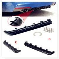 Car Rear Shark Fin Curved Bumper Lip Diffuser for Toyota FJ Cruiser RAV4 CROWN REIZ PRIUS COROLLA VIOS LAND CRUISER PRADO