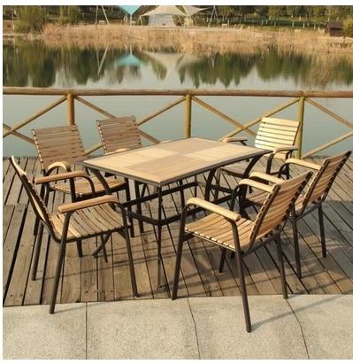 Muebles de jardín muebles de ocio de madera balcón muebles del patio ...