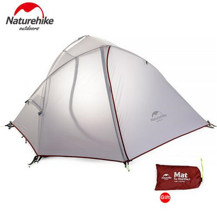 NatureHike 1-2 Person Ultralight Silicone Tent NH hiking Tents Waterproof tents Double Layer Outdoor Camping Hike Travel Tent brand 1 2 person outdoor camping tent ultralight hiking fishing travel double layer couples tent aluminum rod lovers tent