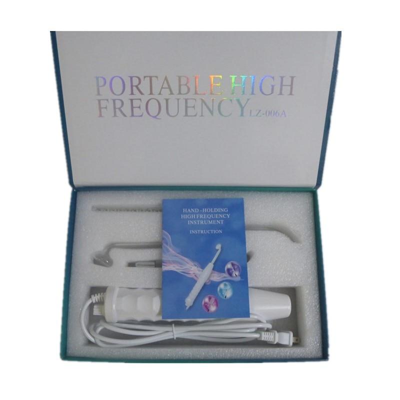 Appareil de beauté portatif à haute fréquence D'arsonval de baguette magique d'électrode de tache d'acné
