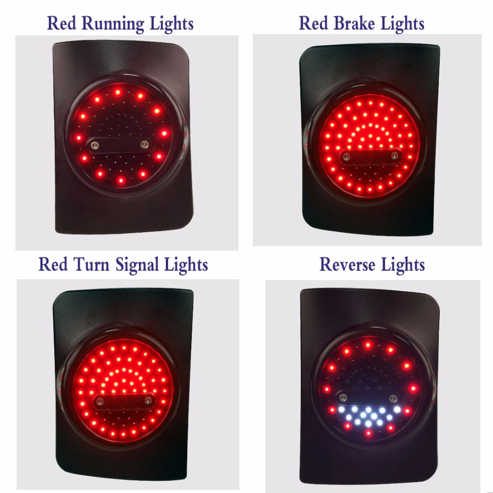 Round Led Tail Light Running Brake Light Reverse Light
