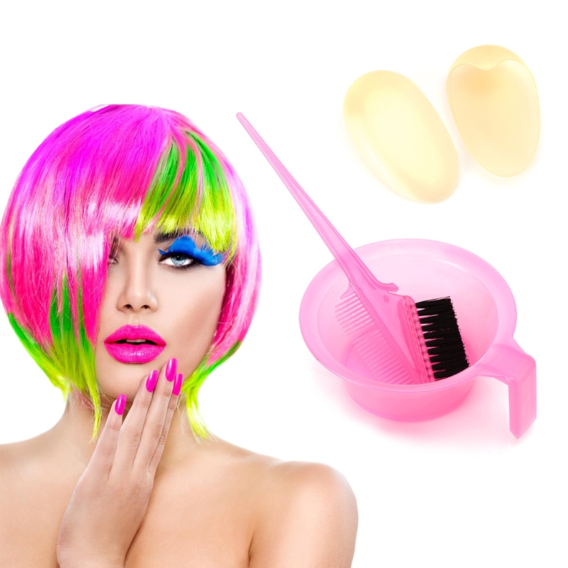 1set Hair Color Dye Tint With Hair Brush Bowl Ear Cover Tools Fashion Designed