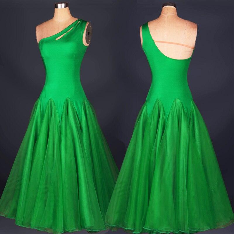 waltz dance costume ballroom dresses for sale standart standard competition for women adult viennese white green flamenco skirts